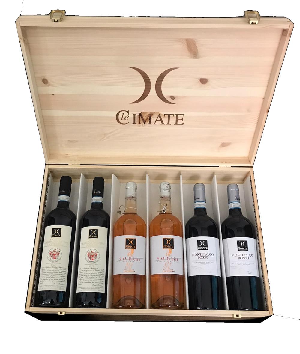 vino di Montefalco confezione legno cantina Le Cimate